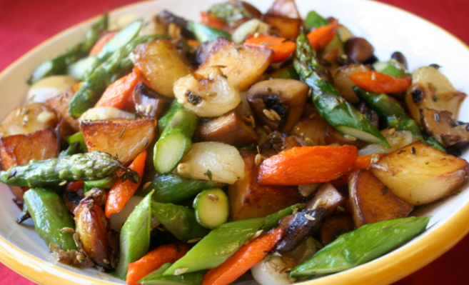 Roasted-vegetables-and-olive-oil Food Pairings Suggestions